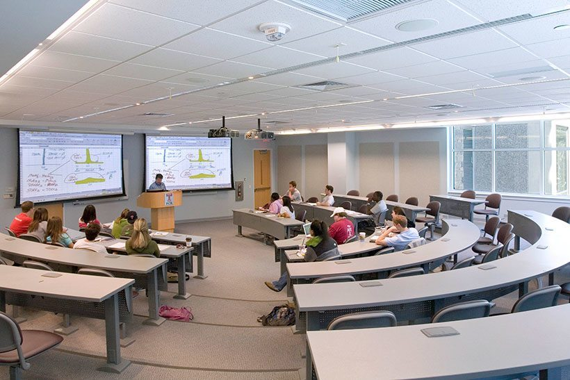 Tiered Classroom Design Standards : Temple university michael graves architecture design
