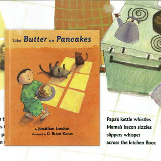 Like Butter On Pancakes Book illustrates the Kettle