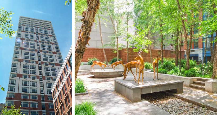 The Impala is a 268,000 square foot mixed-use residential, office, and retail complex containing 204 units in three buildings surrounding a landscaped courtyard in the center of the block.