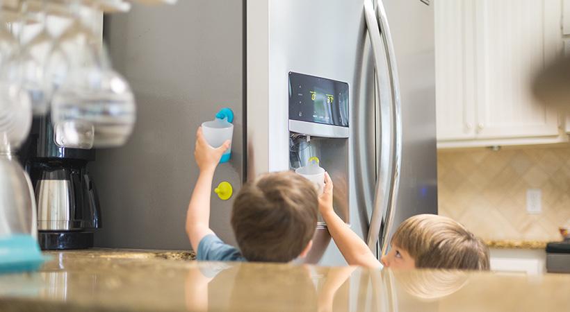 Kids using ice dispenser
