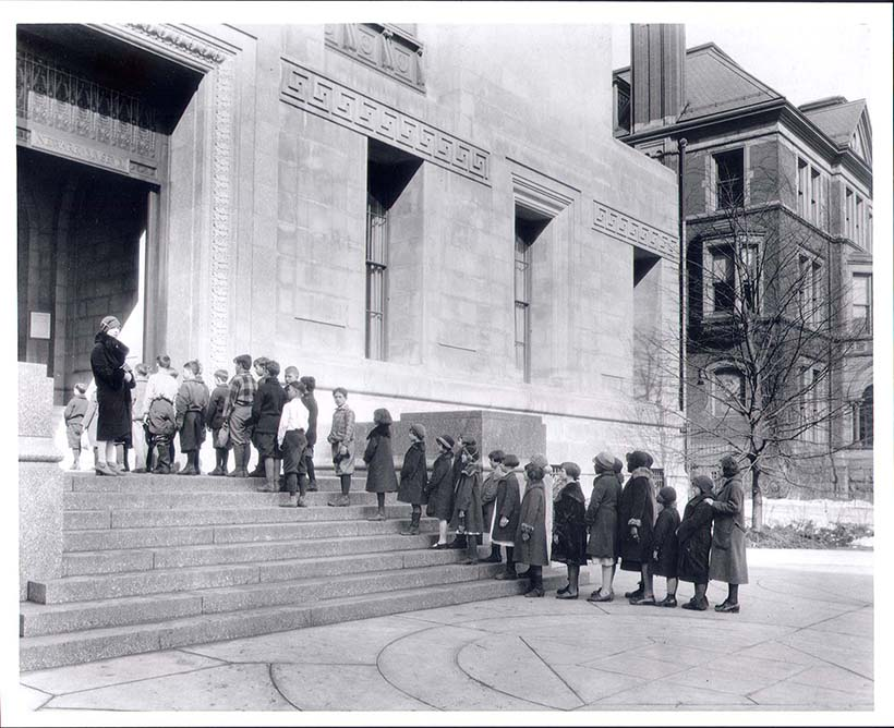 Historic Photo of Newark Museum Entrance