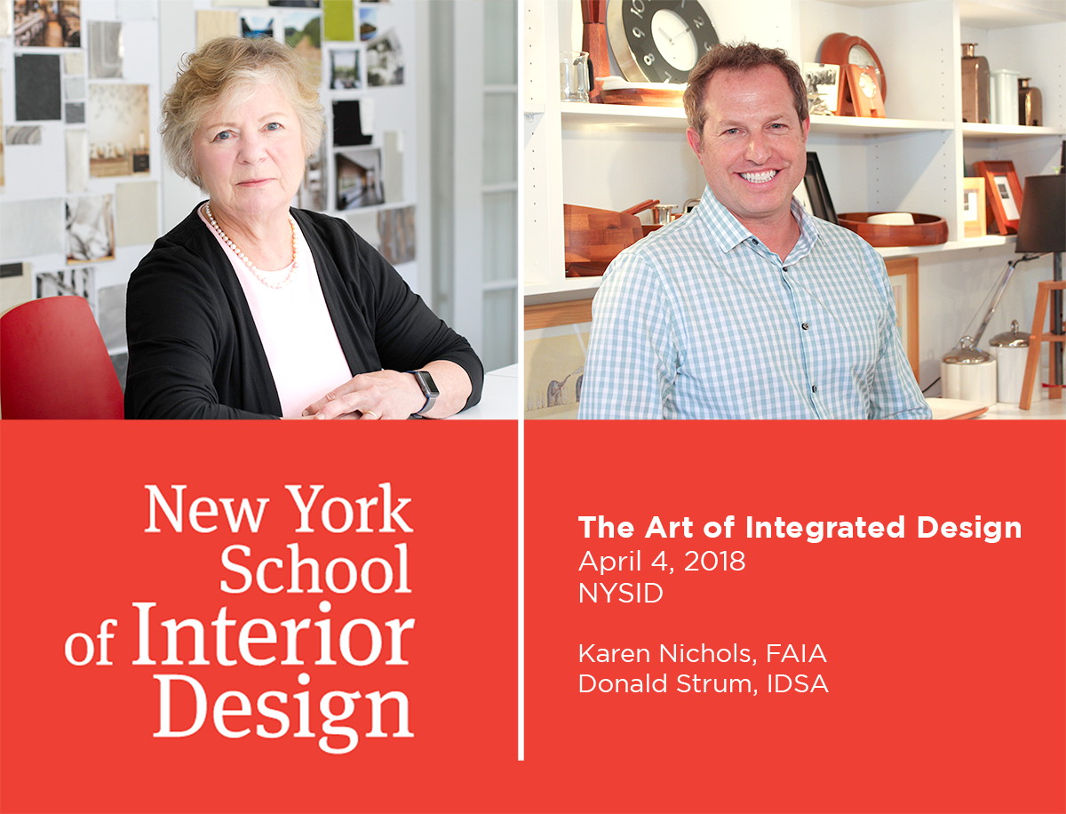 Karen Nichols and Donald Strum will be discuss Michael Graves Architecture & Design: The Art of Integrated Design at New York School of Interior Design.